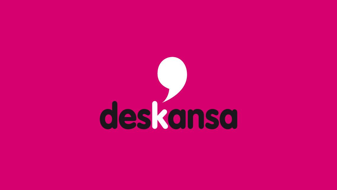Deskansa - Logotipo negativo - EADe
