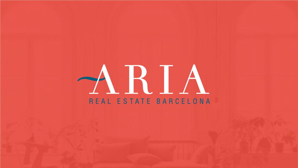 Aria - Logotipo negativo rojo - EADe