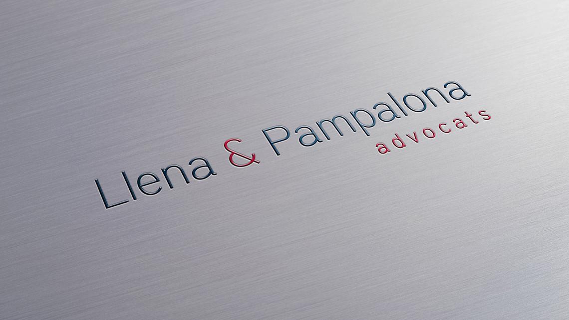 Llena & Pampalona advocats - Logotipo textura - EADe