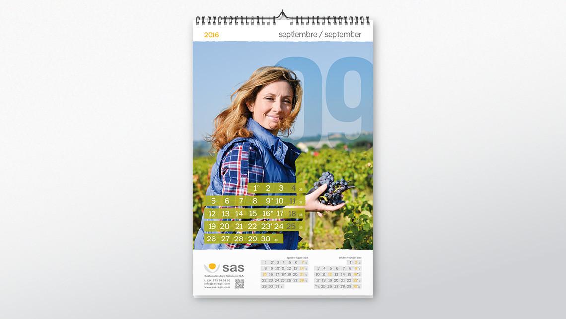 SAS - Calendario pared - Septiembre - EADe
