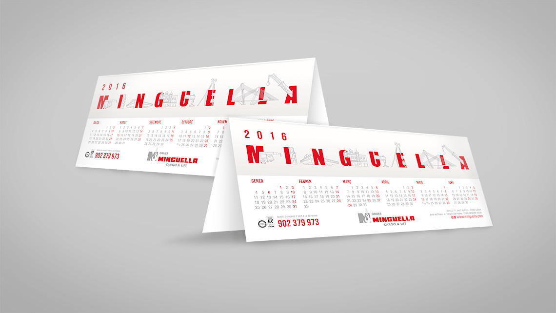 Minguella - Calendarios sobremesa - EADe