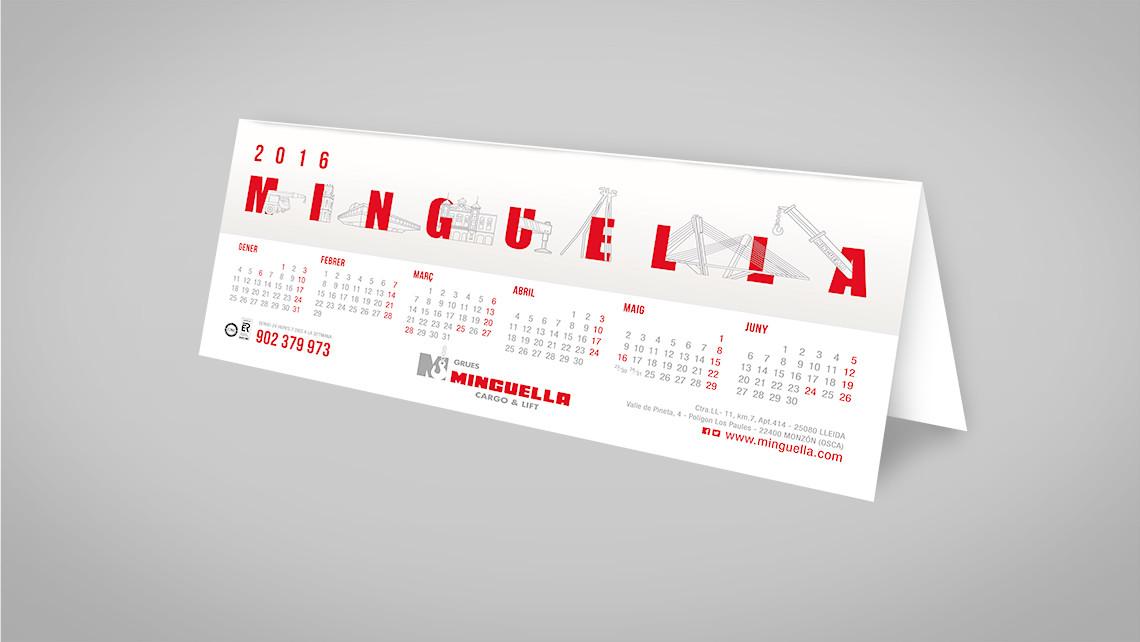Minguella - Calendario sobremesa - EADe