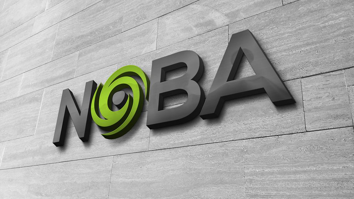 NOBA - Logotipo sobre pared 2 - EADe