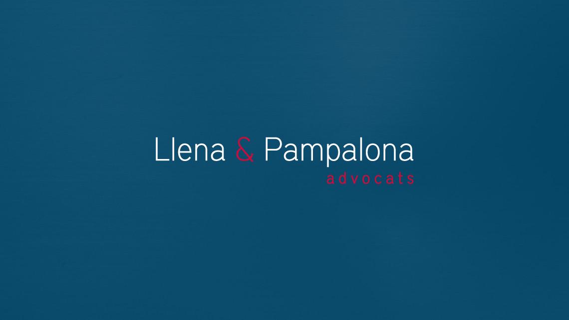 Llena & Pampalona advocats - Logotipo negativo - EADe