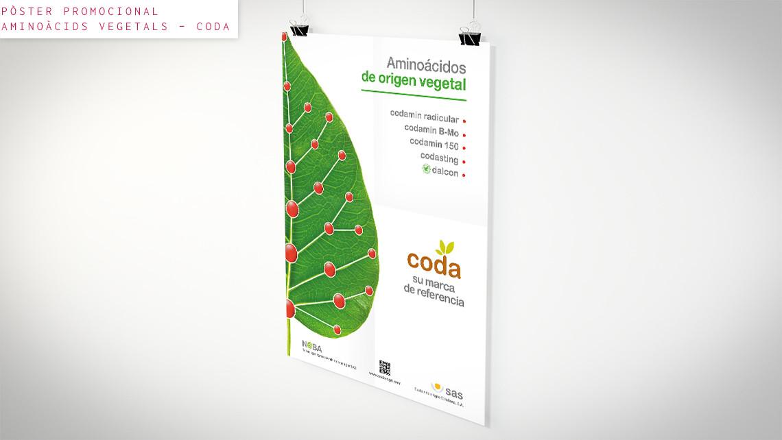 SAS - Coda - Pòster promocional - Aminoàcids vegetals - EADe