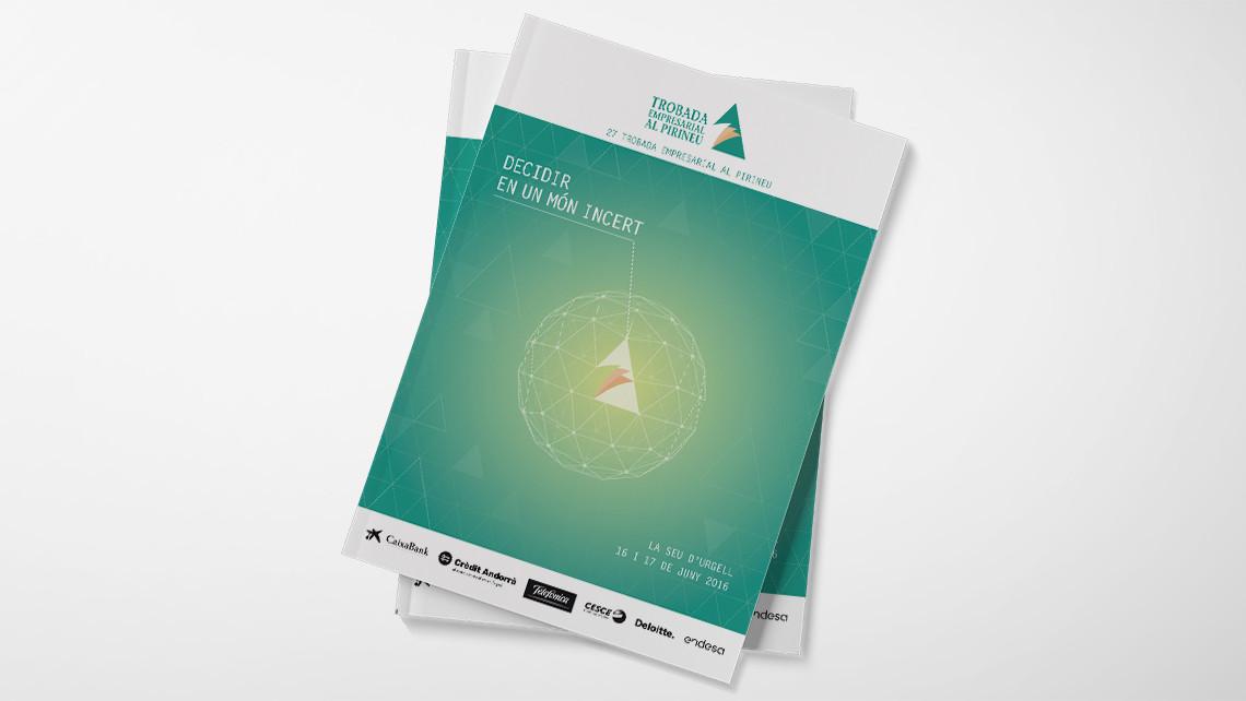 Trobada Empresarial al Pirineu 2016 - Portadas libretos - EADe