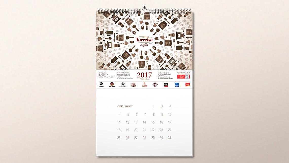 Torrelsa cafés - Calendari 2017 - EADe