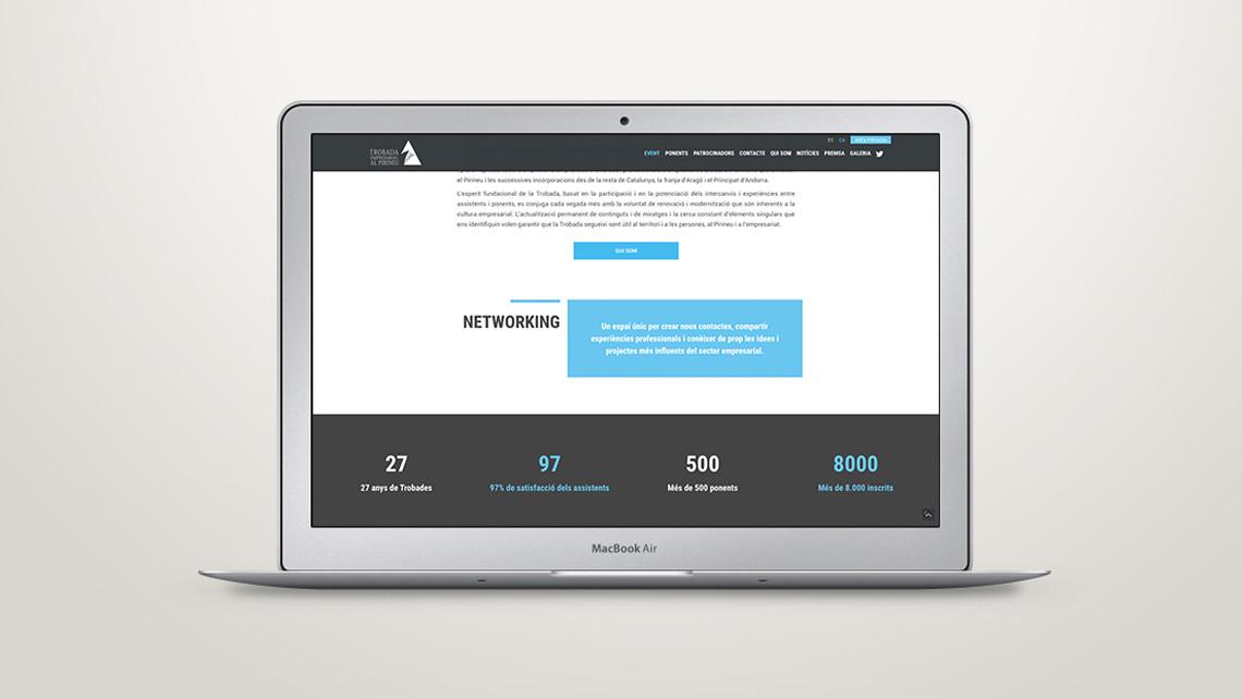 Trobada Empresarial al Pirineu - Web Macbook air - EADe
