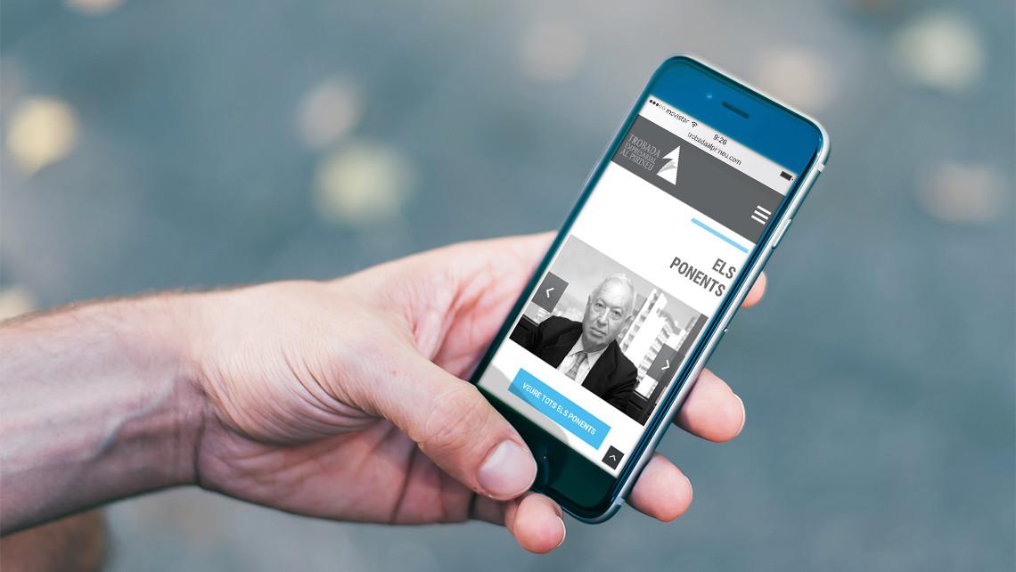 Trobada Empresarial al Pirineu - Web responsive - EADe