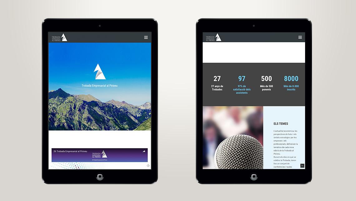Trobada Empresarial al Pirineu - Web con tablets - EADe