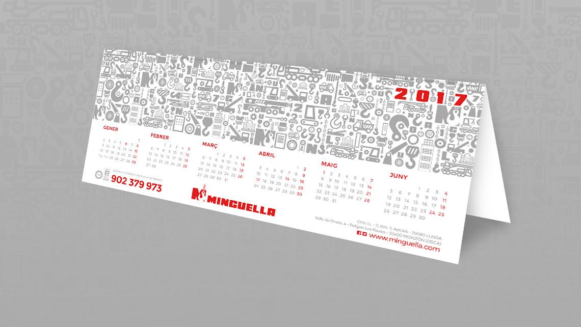 Grúas Minguella - Calendario de sobremesa 2017 - EADe