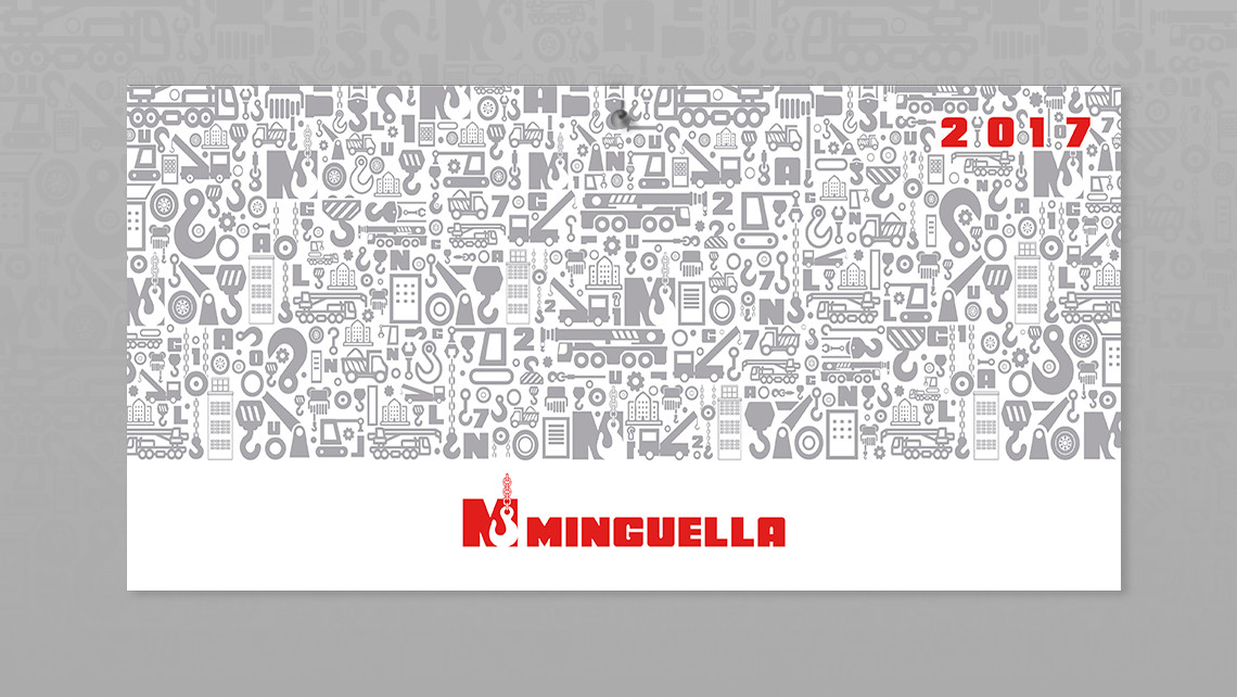 Grúas Minguella - Cabecera calendario de pared 2017 - EADe