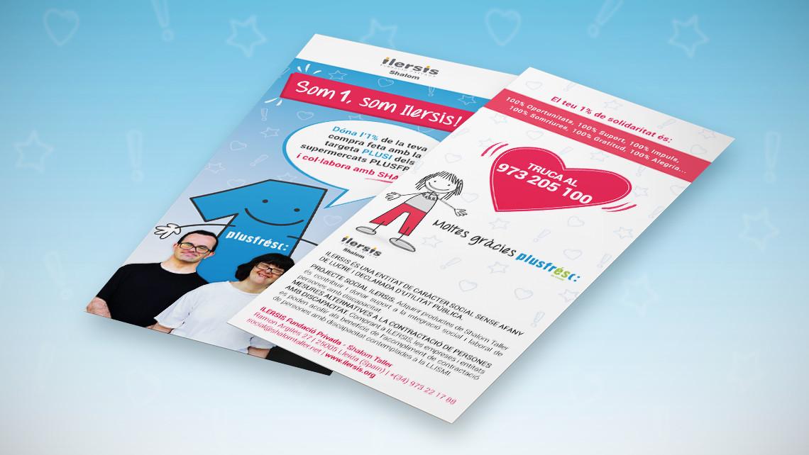 Ilersis - Plusfresc - Flyer- Campanya solidària - EADe