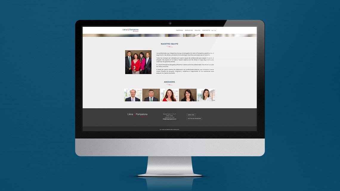 Llena & Pampalona abogados - Web iMac - Equipo - EADe