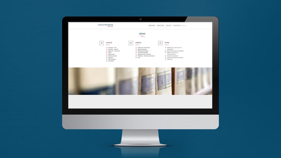 Llena & Pampalona abogados - Web iMac - Áreas - EADe