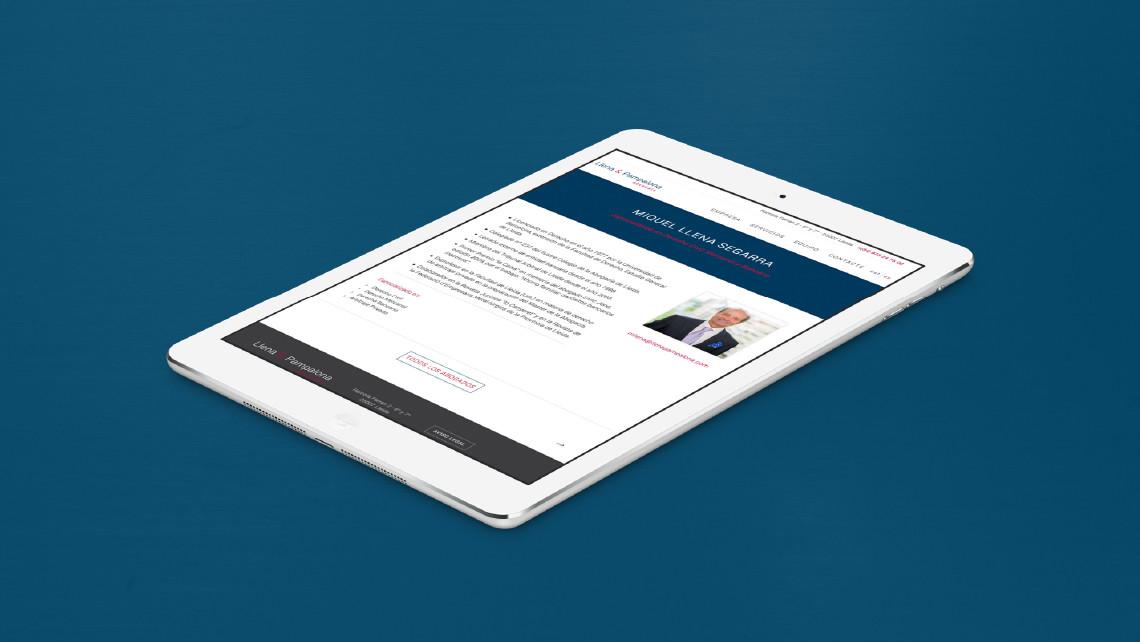 Llena & Pampalona abogados - Web iPad - EADe