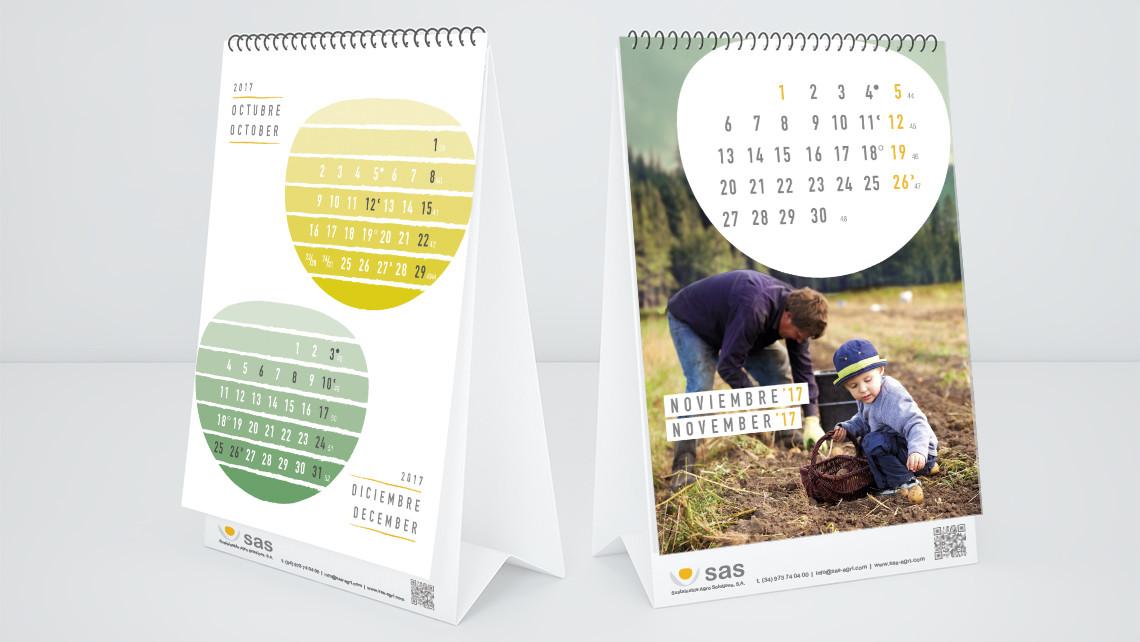 SAS - Calendario 2017 - Interior del calendario de sobremesa - EADe