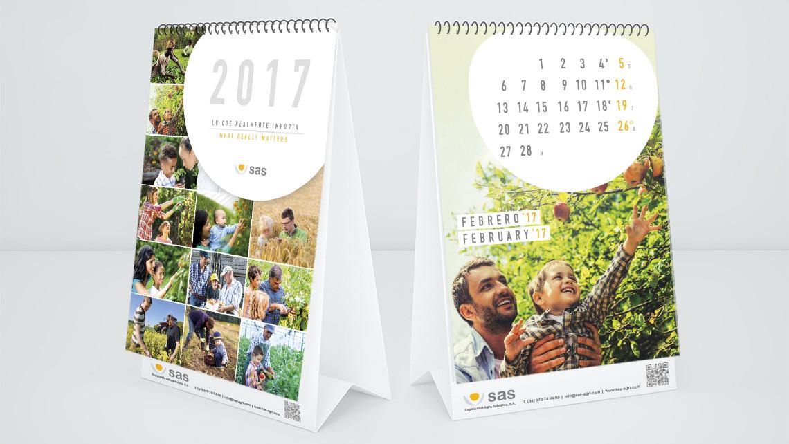 SAS - Calendario 2017 - Portada del calendario de sobremesa - EADe