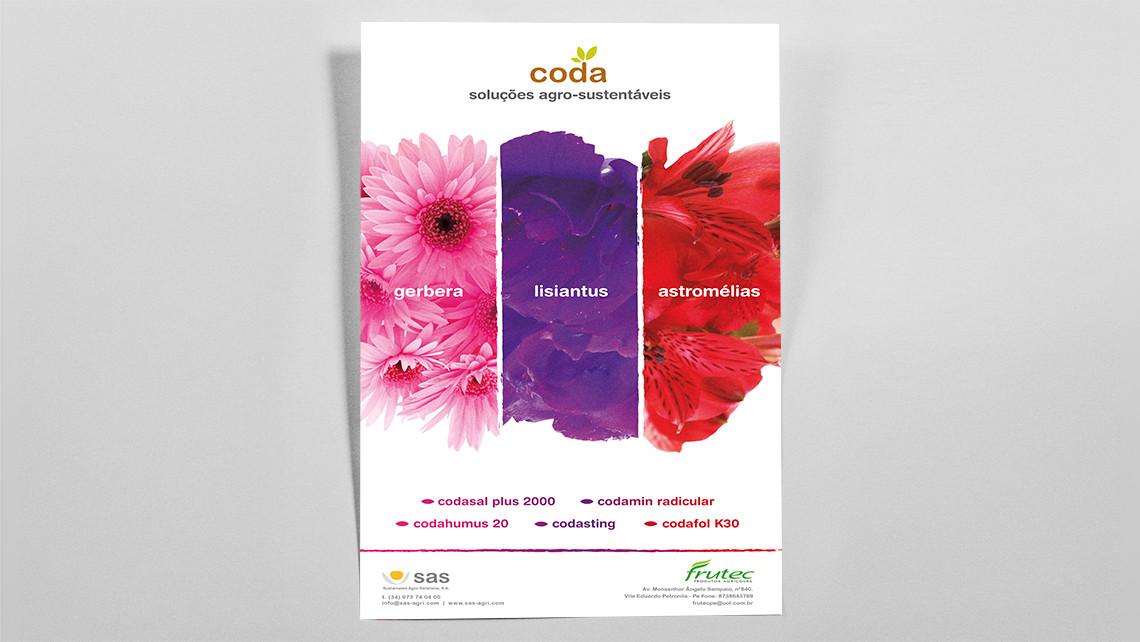 SAS - Coda - Pòster de flors per Brasil - EADe