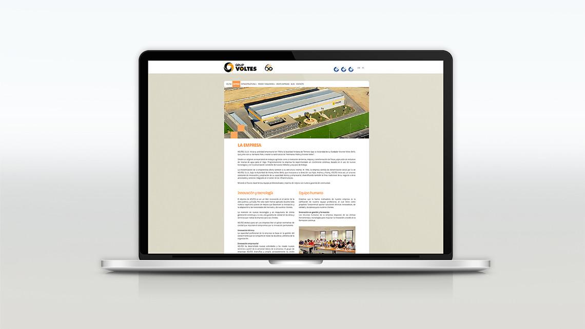Grup Voltes - Web Macbook - Empresa - EADe