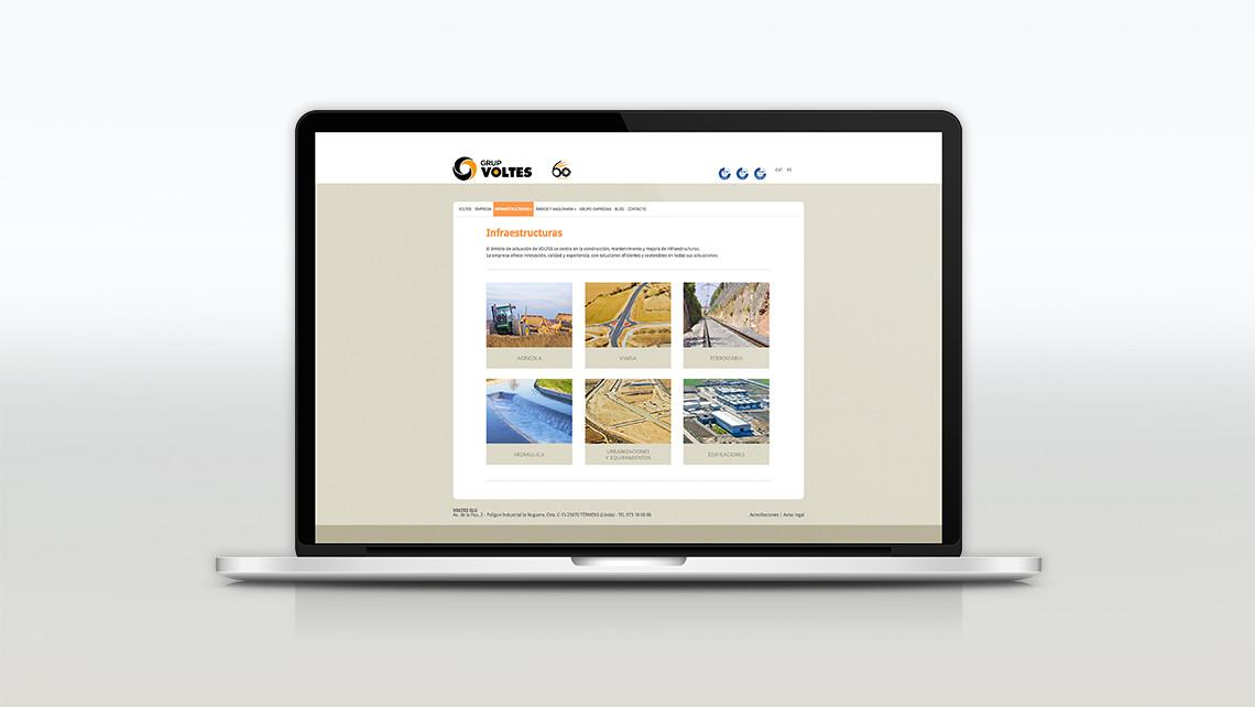 Grupo Voltes - Web Macbook - Infraestructuras - EADe