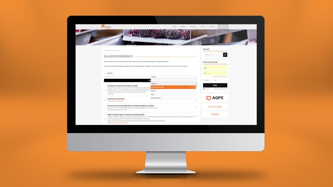 Col·legi Oficial d'Enginyers Agrònoms de Catalunya - Web - Enllaços interessants - EADe