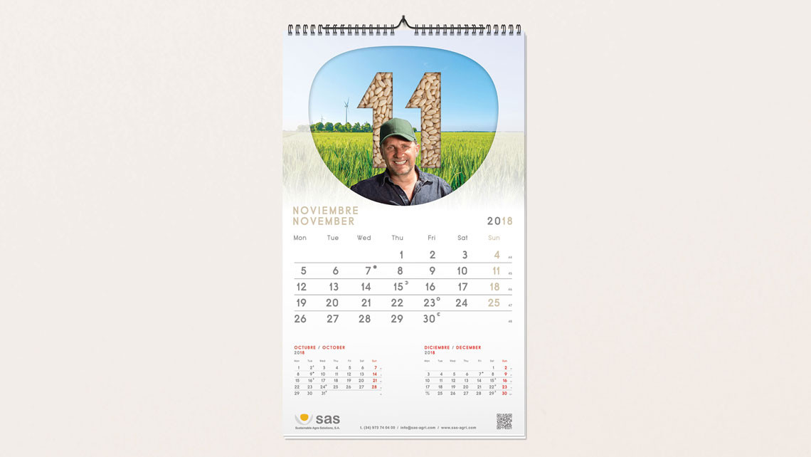 SAS - Material 2018 - Calendario de pared - EADe