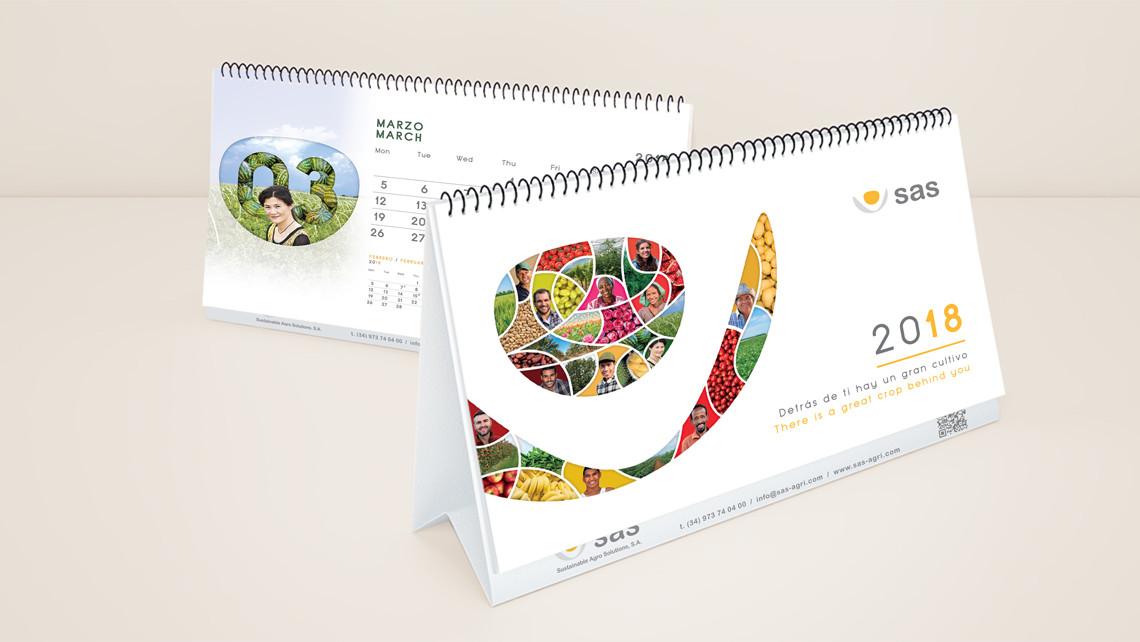 SAS - Material 2018 - Calendarios de sobremesa - EADe
